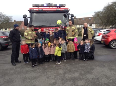 The Fire Engine came to visit us!